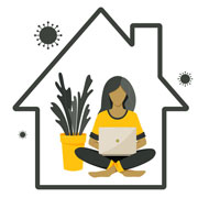 Pictiure of girl sitting in a house